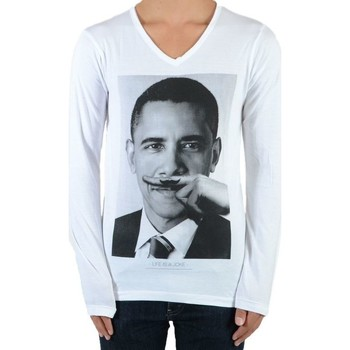 Vêtements T-shirts manches longues Eleven Paris Tee Shirt Obama SS Mixte (Garçon / Fille) Barack Obama Blanc