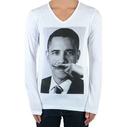 T Longues Tee Ss Manches Shirt shirts Obama Eleven MixtegarçonFilleBarack Blanc Paris cTF1luKJ3