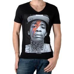 Vêtements Homme T-shirts manches courtes Eleven Paris Tee Shirt  Kalifa M Wiz Khalifa Noir