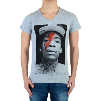 Vêtements T-shirts manches courtes Eleven Paris Tee Shirt Wiz Bowie SS Mixte Gris
