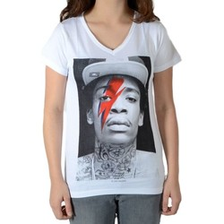 Vêtements T-shirts manches courtes Eleven Paris Tee Shirt Wiz Bowie SS Mixte Blanc