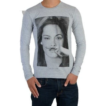 Vêtements T-shirts manches longues Eleven Paris Chris LS Mixte Gris
