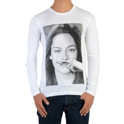 Vêtements T-shirts manches longues Eleven Paris Tee Shirt  Chris LS Mixte Blanc