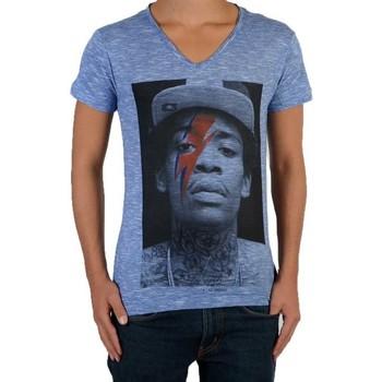 Vêtements Enfant T-shirts manches courtes Eleven Paris Tee Shirt Wizka SS Wiz Khalifa Mixte Bleu
