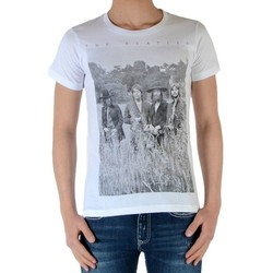 Vêtements Garçon T-shirts manches courtes Eleven Paris Garçon Little Jeatles TS Blanc