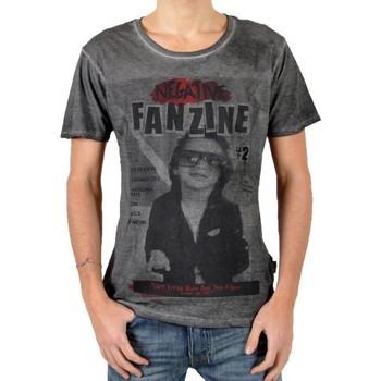 Vêtements Homme T-shirts manches courtes Eleven Paris T-Shirt Fanzine 2 Noir