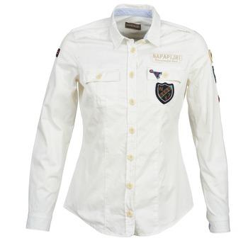 Vêtements Femme Chemises / Chemisiers Napapijri GLENDA Blanc