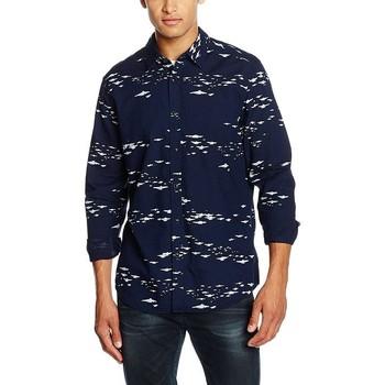 Vêtements Homme Chemises manches longues G-Star Raw LANDOH CLEAN Bleu