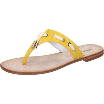 Chaussures Femme Sandales et Nu-pieds Eddy Daniele chaussures femme  sandales jaune daim aw322 jaune