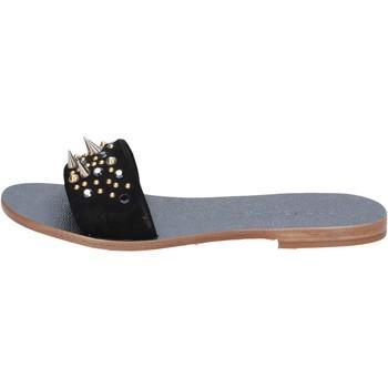 Chaussures Femme Sandales et Nu-pieds Eddy Daniele chaussures femme  sandales noir daim borchie ax775 noir