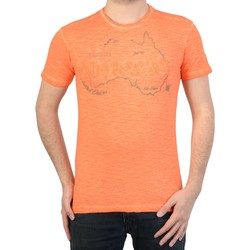 Vêtements Homme T-shirts manches courtes Geographical Norway T-Shirt  jebel Orange