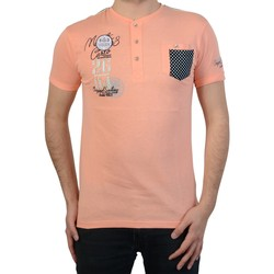 Vêtements Homme T-shirts manches courtes Geographical Norway T-Shirt  jissigny Rose