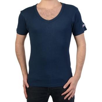 Vêtements Homme T-shirts manches courtes Geographical Norway T-Shirt  juba Bleu