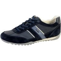 Chaussures Homme Baskets basses Geox Basket  U Wells Bleu