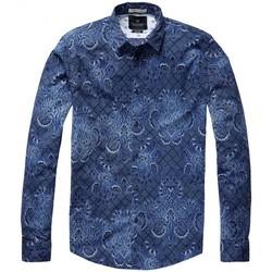 Vêtements Homme Chemises manches longues Scotch & Soda 136294 Bleu