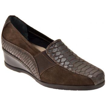 Chaussures Femme Mocassins Confort Python avec élastique Mocassins