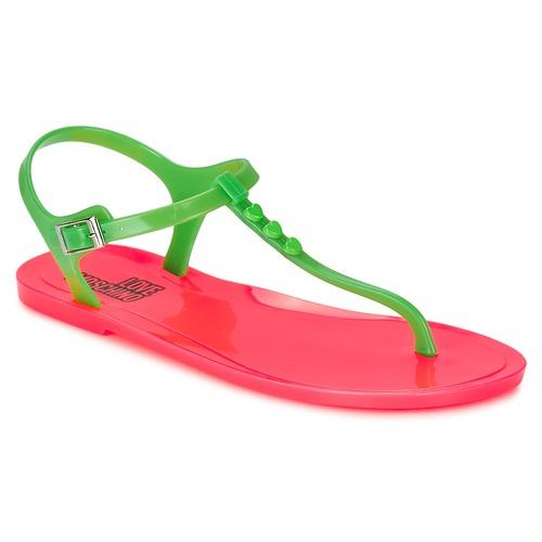 Chaussures Femme Sandales et Nu-pieds Love Moschino JA16381G0KJN180A Vert / Rose