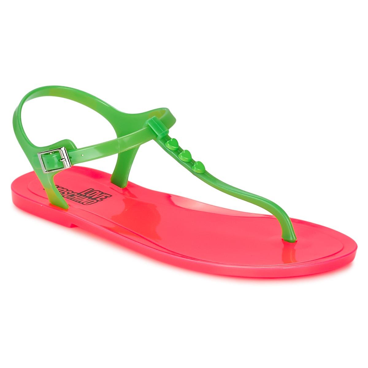 Sandale Love Moschino JA16381G0KJN180A Vert / Rose
