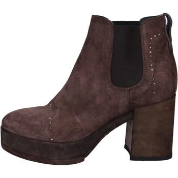 Chaussures Femme Bottines Moma bottines marron (brun foncé) daim BX09 marron
