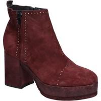 Chaussures Femme Bottines Moma bottines bordeaux daim BX10 rouge