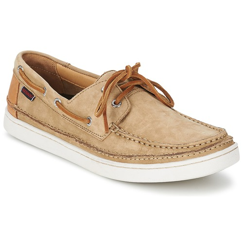 Sebago RYDE TWO EYE Marron - Chaussures Chaussures bateau Homme