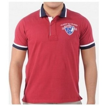 Vêtements Homme Polos manches courtes Classic All Blacks Polo rugby homme - Polo 1884 - Rouge