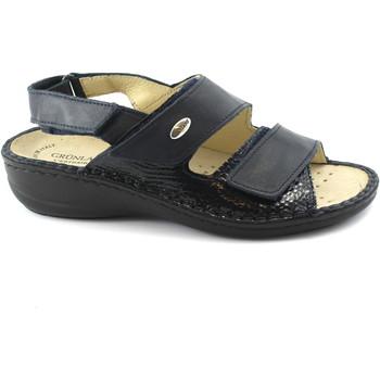 Chaussures Femme Sandales et Nu-pieds Grunland DARA SE0064 sandales bleues femme amovible larmes plantaires Blu