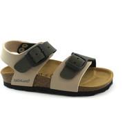 Chaussures Enfant Sandales et Nu-pieds Grunland LIGHT SB0901 35 beige olive sandale enfant boucles bouleau Beige