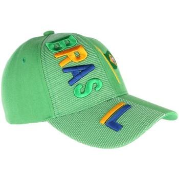 Accessoires textile Casquettes Pays Casquette Bresil verte et jaune drapeau Bresilien Vert