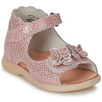 Chaussures Fille Sandales et Nu-pieds Little Mary SOLEIL Rose