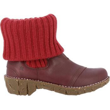 Chaussures Femme Low boots El Naturalista N097 SOFT GRAIN RIOJA   YGGDRASIL  Bottines Femme Rouge Élastiqu a392a1d389f
