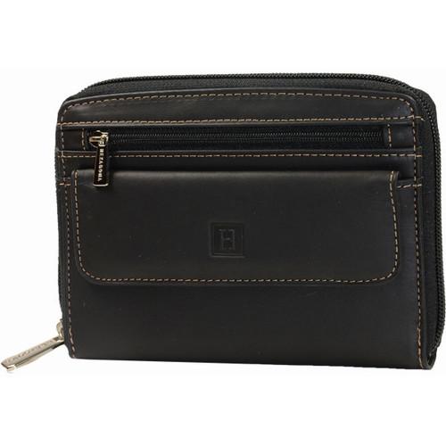 Sacs Portefeuilles Hexagona Petite pochette en cuir vachette ref_xga30493 Black