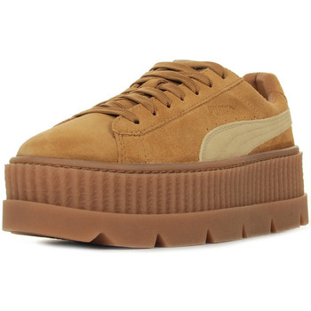 Chaussures Femme Baskets basses Puma Rihanna Cleated Creeper Suede marron