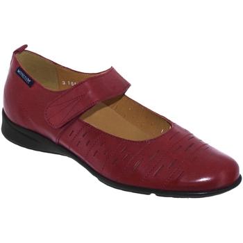 Chaussures Femme Ballerines / babies Mephisto Valerina perf Bordeaux cuir