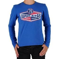 Vêtements Garçon T-shirts manches longues Japan Rags Tee Shirt  Enfant Manches Longues Bleu