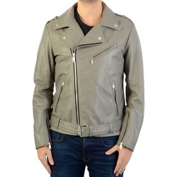 Vêtements Homme Vestes en cuir / synthétiques Ladc En Cuir rocky biber Gris