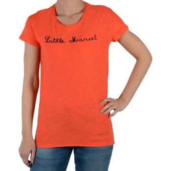 Vêtements Femme T-shirts manches courtes Little Marcel tiflore Rose