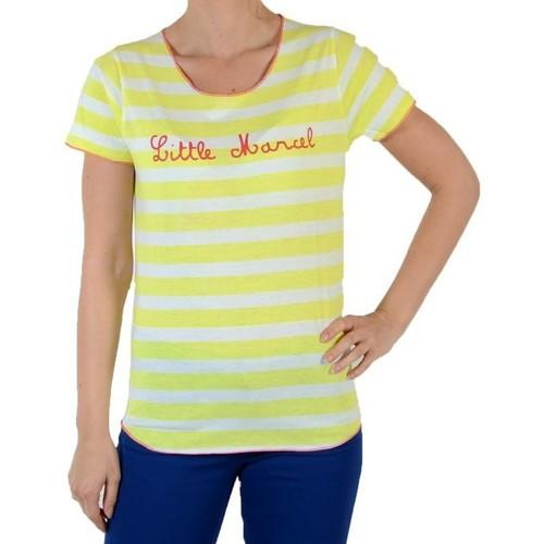 Vêtements Femme T-shirts manches courtes Little Marcel Tee Shirt teflo Jaune