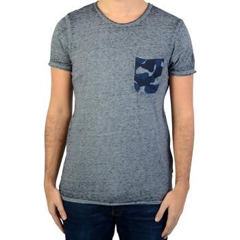 Vêtements Homme T-shirts manches courtes Le Temps des Cerises Tee-Shirt  Elias Bleu