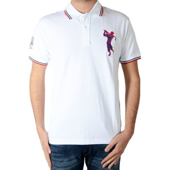 Vêtements Homme Polos manches courtes Marion Roth P8 Blanc