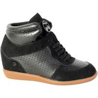 Chaussures Femme Baskets montantes Le Temps des Cerises Basket  Vic H17 Perf Noir