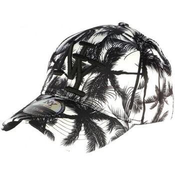Accessoires textile Casquettes Hip Hop Honour Casquette Baseball noire et blanche Tropical Noir