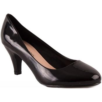Chaussures Femme Escarpins Primtex Escarpins  bout rond vernis petit talon 5 cm Noir