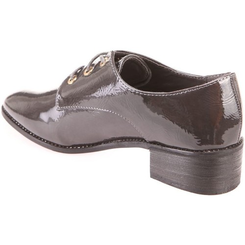 Derbies vernis gris à talon carré La Modeuse derbies femme gris