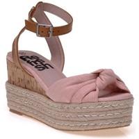 Chaussures Femme Espadrilles Refresh Sandales Doré