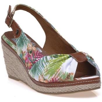 Chaussures Femme Espadrilles Refresh Sandales blanc