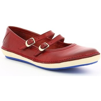Chaussures Femme Ballerines / babies Kickers FOLKY ROUGE