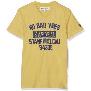 Vêtements Garçon T-shirts manches courtes Kaporal T-Shirt Garçon Jaune Jaune