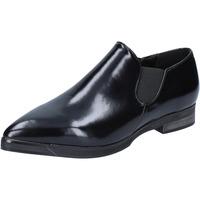 Chaussures Femme Mocassins Francescomilano chaussures femme  slip on mocassins noir cuir BX327 noir