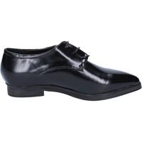 Chaussures Femme Richelieu Francescomilano chaussures femme  élégantes noir cuir BX328 noir